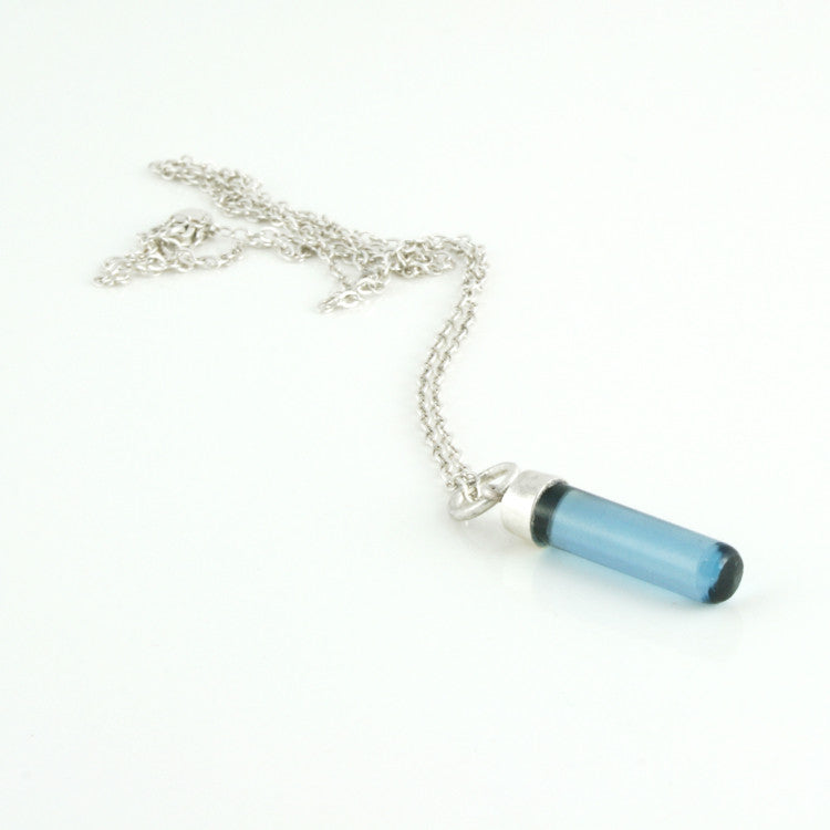 Sterling silver and London blue topaz necklace
