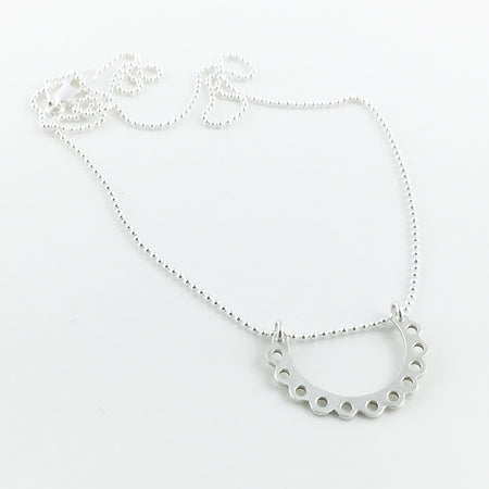 Lace sterling silver necklace