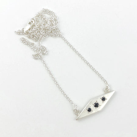 Solis silver necklace