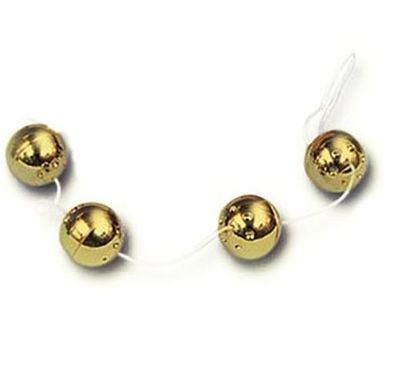 Ben Wa Balls On A String - Gold