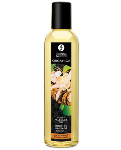 Shunga Organica Kissable Massage Oil Almond Sweetness 8oz