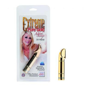 Clit Cuddlers- Extreme Mini Scoop Gold by Cal Exotics- Gold 2.75 X 0.75 in. Plastic Phthalate Free