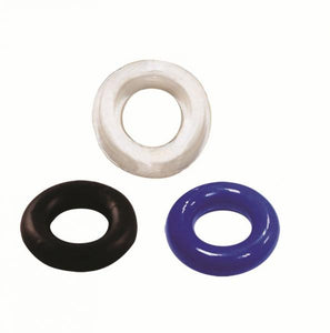 Cock Rings- Thick Cock Rings 3 Pack Assorted Colors by Blush Novelties- Assorted  X 0.4 in. TPR/TPE Phthalate Free