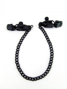Nipple Clamps Criss Cross Chain Black
