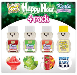 Happy Hour Flavored Lubricants 4 Pack 1.7oz