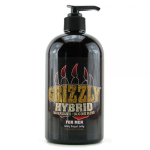 Lubricants- Grizzly For Men Hybrid Silicone/Water Based Lube 17.5oz by Nature Labs-   X  in.  Made in USA