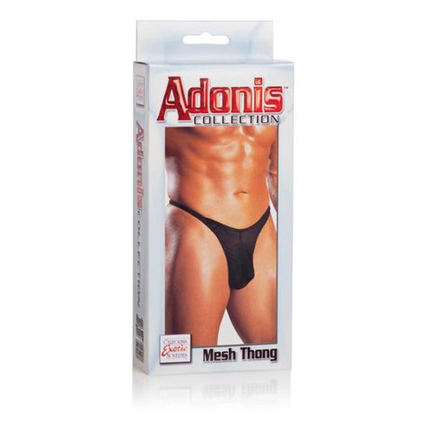 Mesh Thong -Black - Men by California Exotic Novelties - Black, Mesh