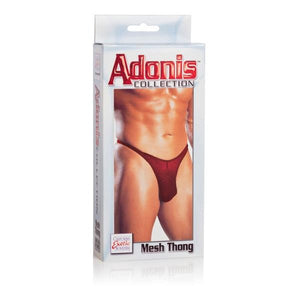 Mesh Thong -Red - Men by California Exotic Novelties - Red, Mesh