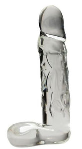 "Realistic Dildos & Dongs- Large 9"" Realistic Glass Dildo - Clear by Spartacus- Clear 9 X 1.75 in. Glass Phthalate Free"