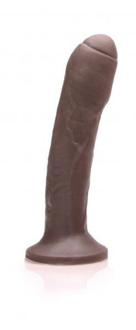 Realistic Dildos & Dongs- Uncut #2 Dildo Mocha by Tantus- Brown  X 1.6 in. Silicone Phthalate Free