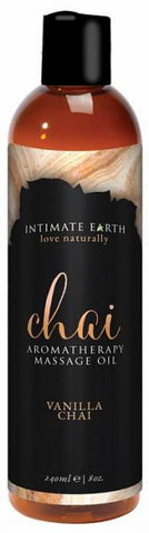 Sensual Massage- Intimate Earth Chai Massage Oil 8oz by Intimate Earth-   X  in.  Made in USA