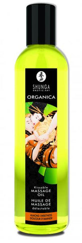 Sensual Massage- Shunga Organica Massage Oil Almond Sweetness 8oz by Shunga Erotic Art-   X  in.  Flavored