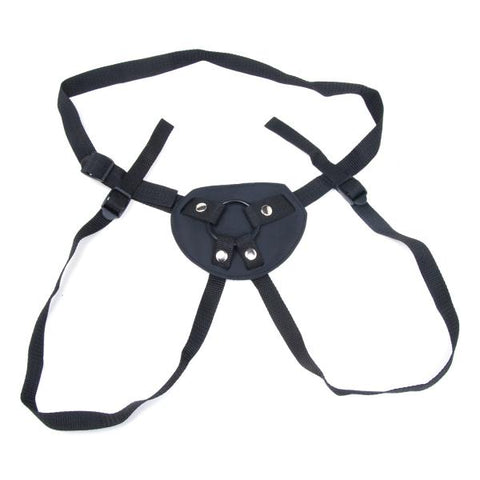 Strap-ons & Harnesses- Malibu Terra Firma by Kinklab- Black  X  in. Leather Adjustable   KL415WHCP