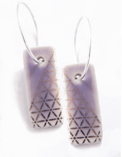 Platinum Trellis Purple Hoops
