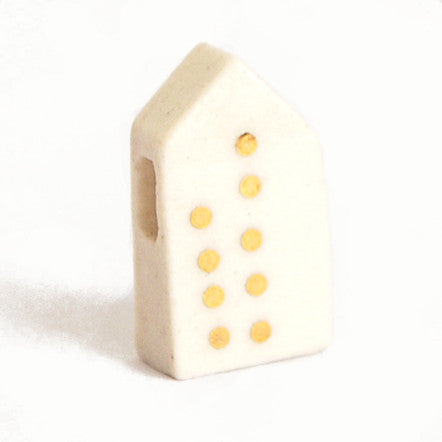 18k Just Dotty Porcelain House Pendent on 18' Sterling Silver Chain