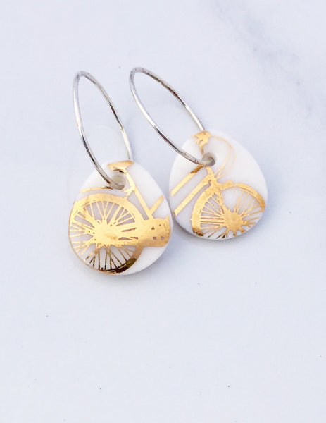Golden Bike earrings