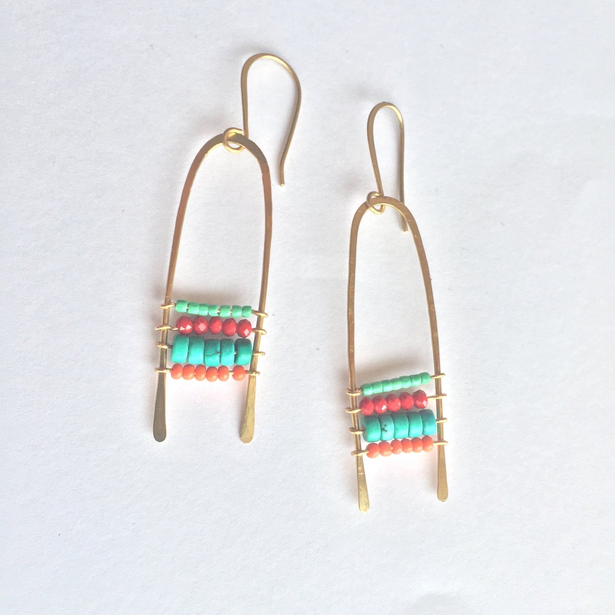 Abacus bead earrings