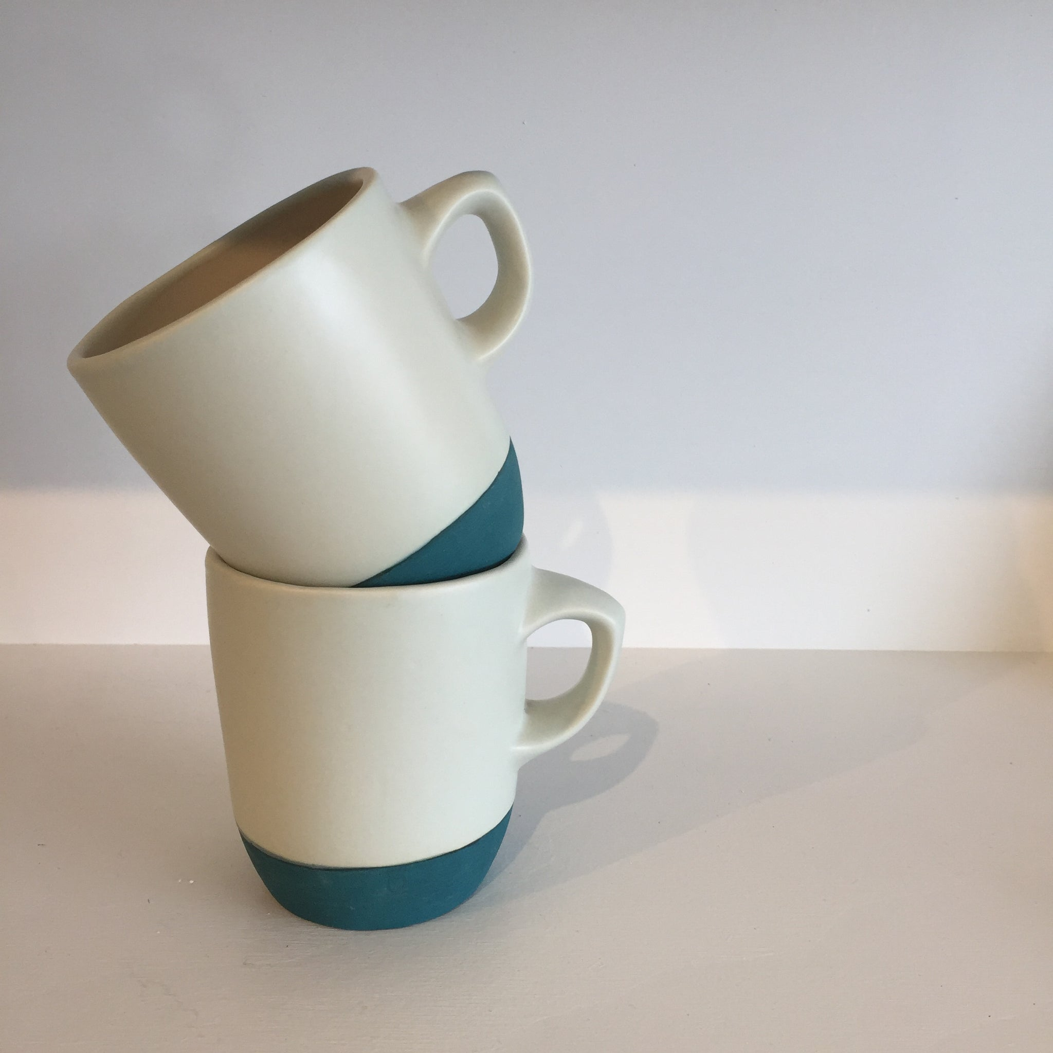 The classic cup with dark teal