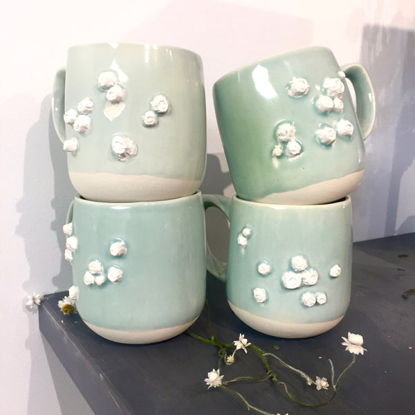 Celadon Barnacle mugs