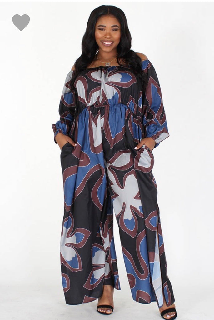 Blueberry Split Jumpsuit