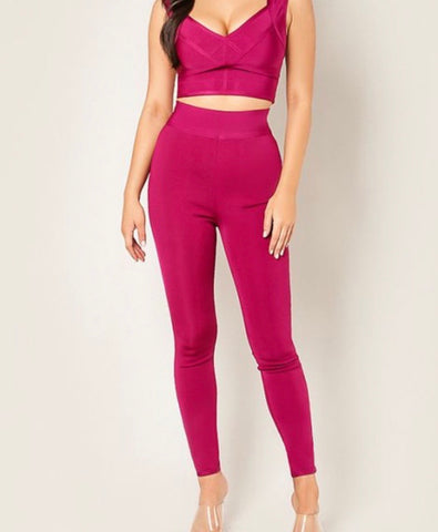Wine HW Bandpants
