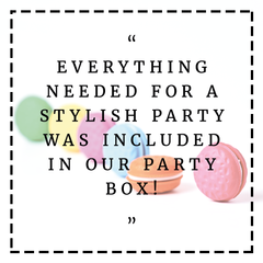Testimonials Stylish Party Supplies Bee Box Parties