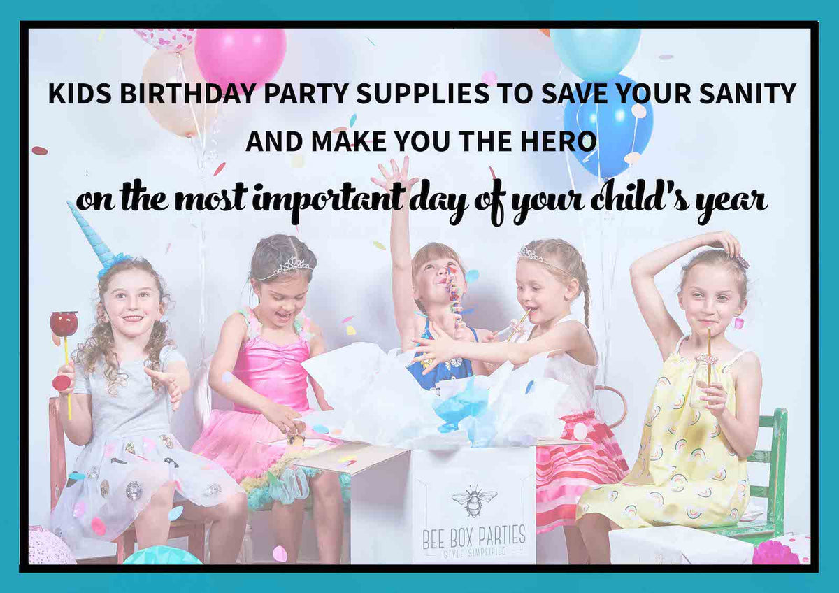 Kids Themed Birthday Party Supplies and Ideas Bee Box Parties