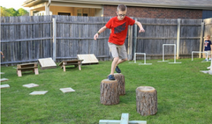 DIY Ninja Obstacle Course from Frugal for Boys