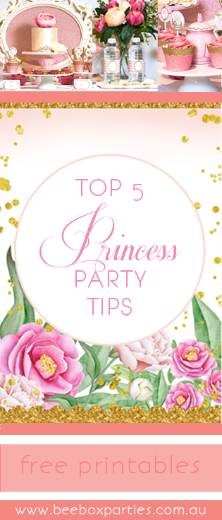 bee box parties top 5 princess party tips printables