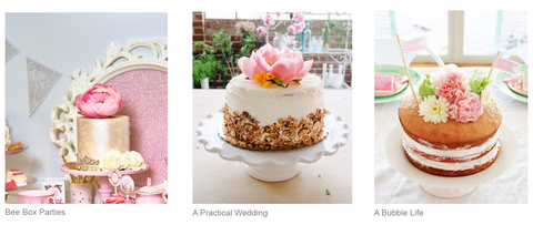 bee box parties fresh flowers on cake ideas