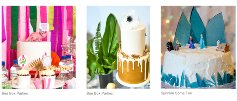bee box parties cake mini figure ideas