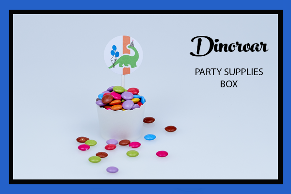DINOSAUR PARTY SUPPLIES BOX