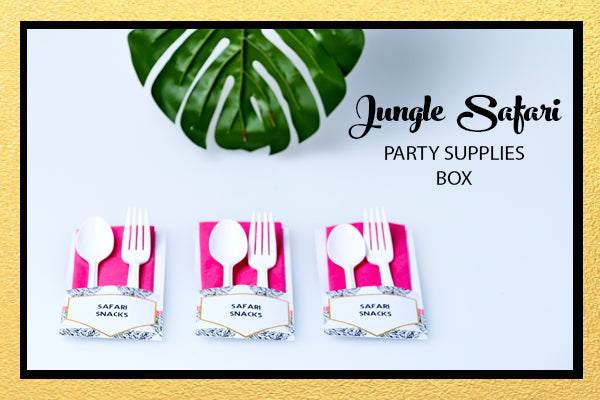 JUNGLE SAFARI PARTY SUPPLIES BOX