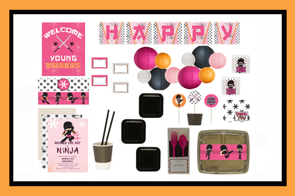 NINJA PARTY SUPPLIES BOX