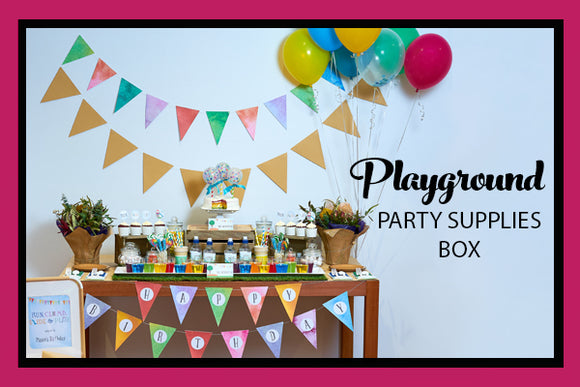 PLAYGROUND PARTY SUPPLIES BOX