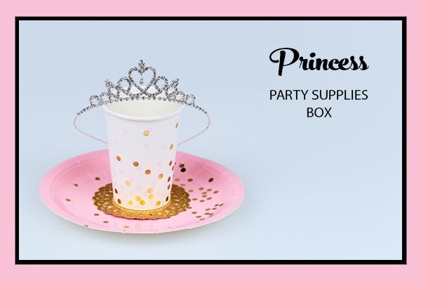 Princess Party Supplies Ideas Plates Cup Tiara Bee Box Parties