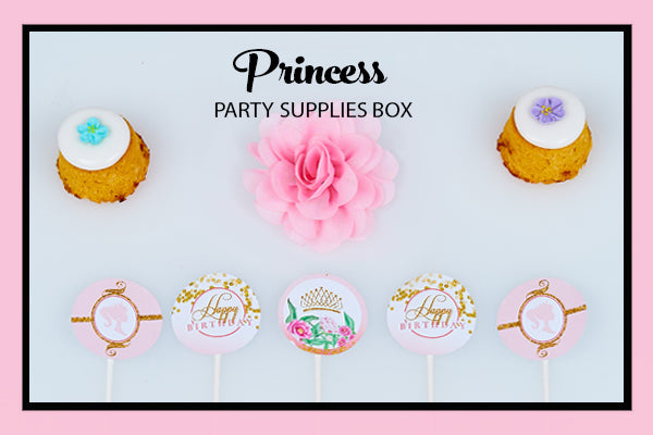 Princess Party Supplies Ideas Cupcake Toppers Bee Box Parties