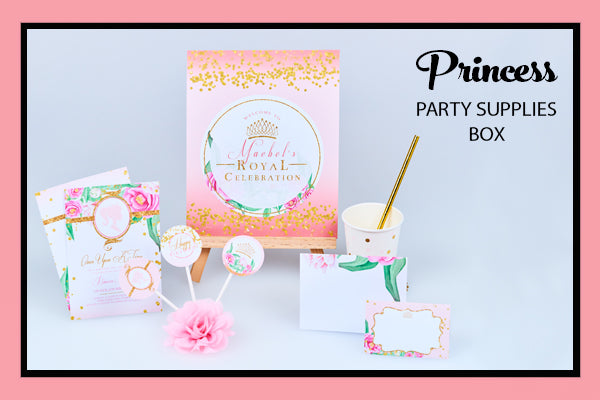 Princess Party Supplies Ideas Decorations Printables  Bee Box Parties