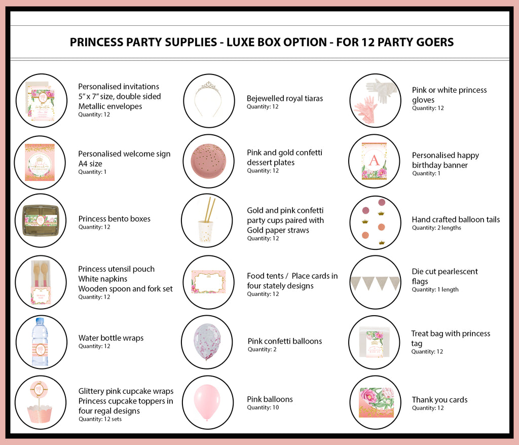 Princess Party Supplies Ideas Luxe Box Products 12 Bee Box Parties