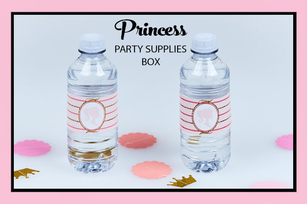 Princess Party Supplies Ideas Water Bottle Wraps Bee Box Parties