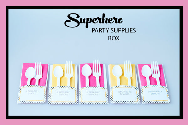 SUPERHERO PARTY SUPPLIES BOX