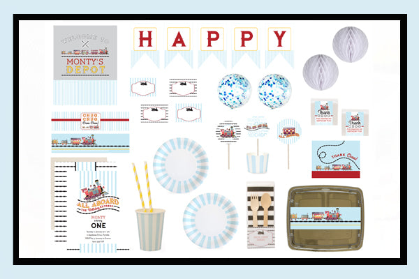 Train Party Supplies & Ideas  Bee Box Parties