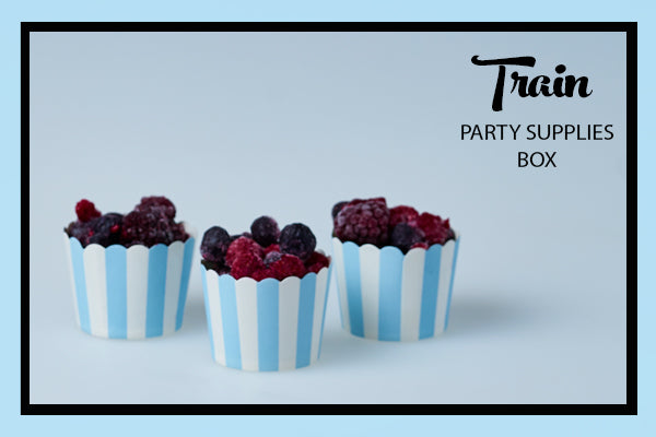Train Party Supplies & Ideas Sriped Baking Cups Bee Box Parties