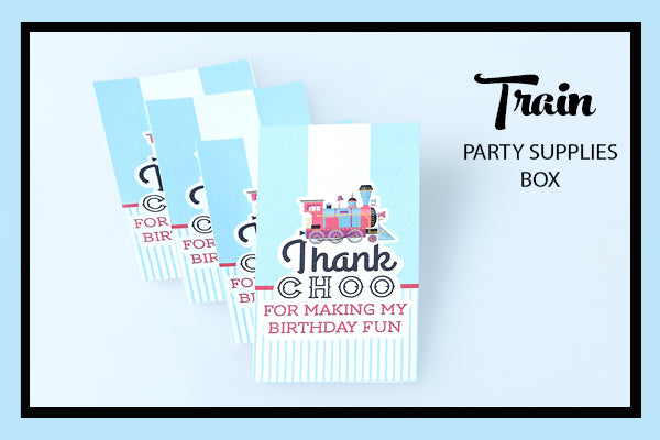 Train Party Supplies & Ideas Favour Tags Bee Box Parties