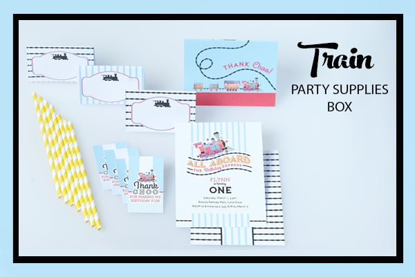 Train Party Supplies & Ideas Printables Partyware Bee Box Parties