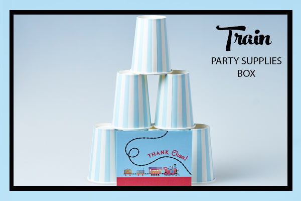 Train Party Supplies & Ideas Thank You Choo Card and Cups Bee Box Parties
