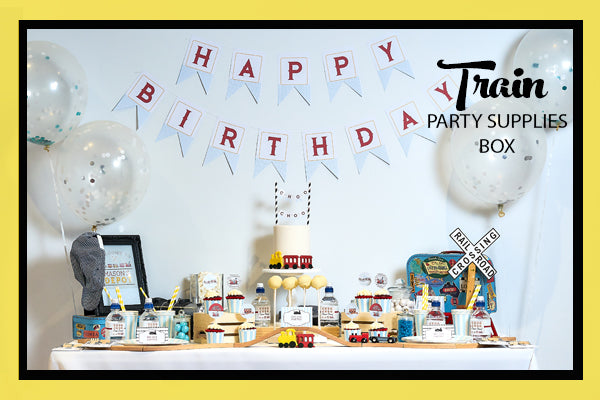 Train Party Supplies & Ideas Dessert Table Set Up Bee Box Parties