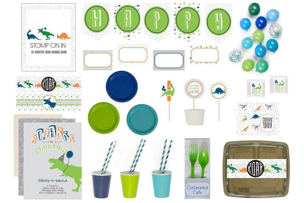 Dinoroar Party Supplies Blue Bee Box Product Overview