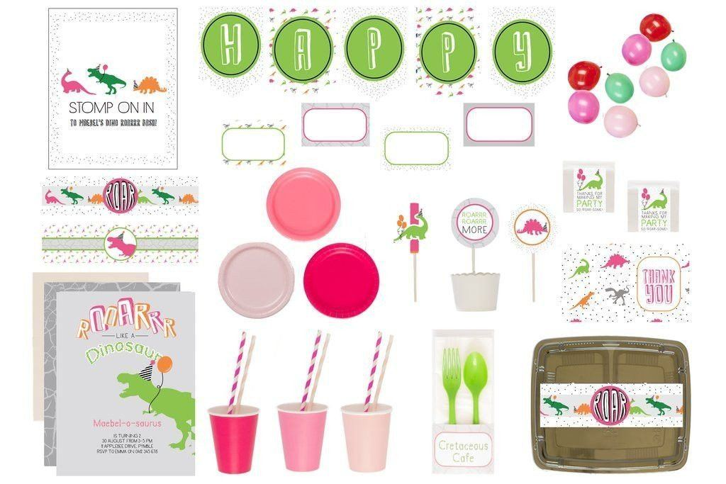 Dinoroar Party Supplies Pink Bee Box Product Overview