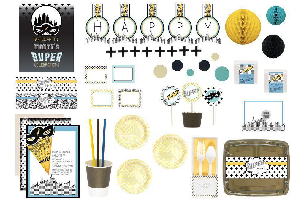 bee box paties superhero blue luxe box flatlay